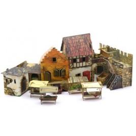 """Игровой набор из картона """"Средневековый город"""""""