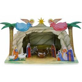 Сборная модель из картона Рождественский вертеп