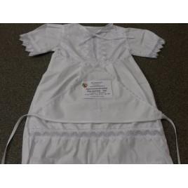 Крестильный набор для девочки (платье, косынка) (р-р 30- 32, 3- 4 года), рост: 98- 104 (хлопок)