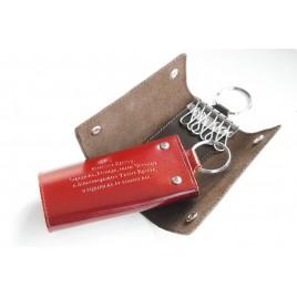 Ключница «книжка» с кольцом, тиснение молитвы кресту, 60х110 мм, 7111