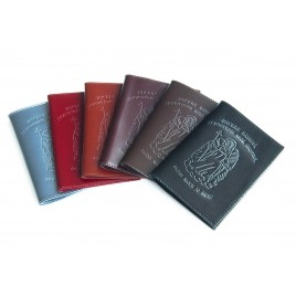 Обложка для паспорта с тиснением золотом Креста и молитвы Псалом 90, 5501Ан